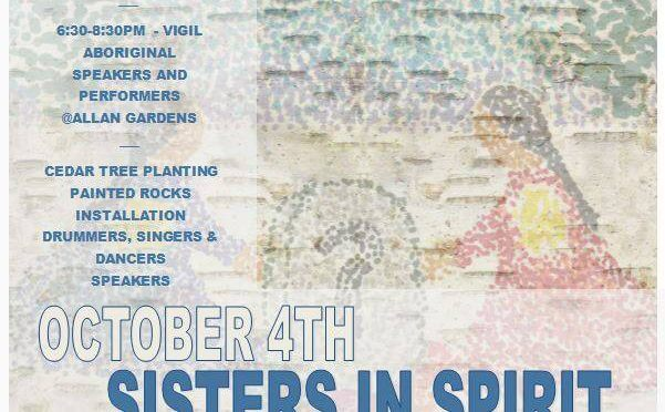 Potluck Supper 5 PM followed by walk to Sisters in Spirit Vigil