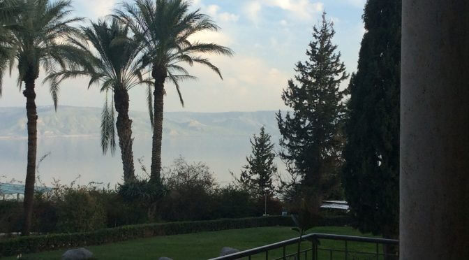[Photo: The Sea of Galilee from the Mount of the Beatitudes, Feb. 2016]