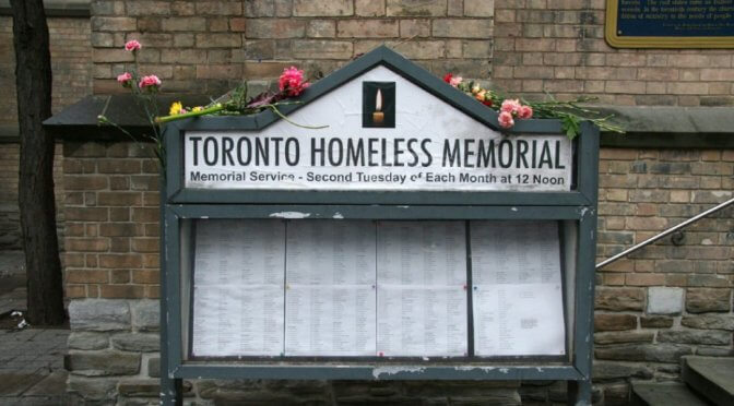 Homeless Memorial Flowers