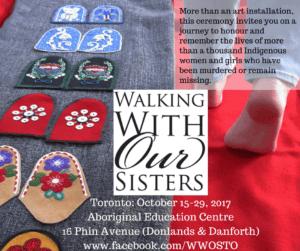 Walking With Our Sisters @ Aboriginal Education Centre | Toronto | Ontario | Canada