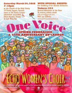One Voice: Echo Spring Fundraiser & 25th Anniversary CD Launch @ Church of the Holy Trinity