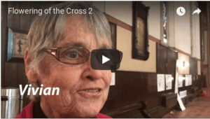 Image of a video where members of Holy Trinity discuss what flowering the cross means for them