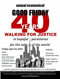 Ecumenical Good Friday Walk for Justice @ Church of the Holy Trinity