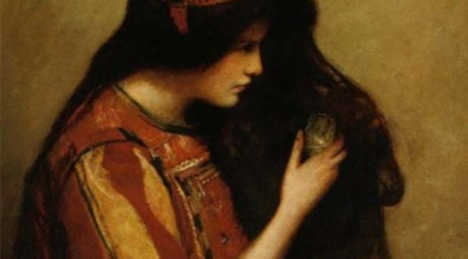 Mary of Bethany by George William Joy (detail) - 1900; public domain