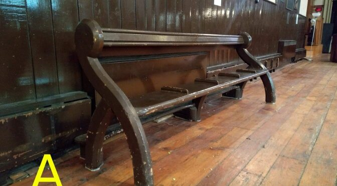 2 Historic pews for sale